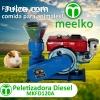 Peletizadora Meelko 120 mm 8 hp DIESEL para concentrados bal