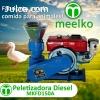 Peletizadora Meelko 150 mm 8 hp DIESEL para concentrados bal